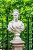 Anticient statue in Summer garden in Saint-Petersburg Royalty Free Stock Images