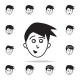 Anticipation of the face icon. Detailed set of facial emotions icons. Premium graphic design. One of the collection icons for. Websites, web design, mobile app royalty free illustration