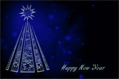 In anticipation of the holiday. Happy new year and Christmas. black and white postcard Royalty Free Stock Photo