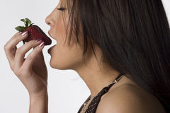 anticipation strawberry Στοκ φωτογραφία με δικαίωμα ελεύθερης χρήσης