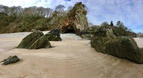 Anticline, γυναικεία σπηλιά, Saundersfoot Στοκ Φωτογραφίες