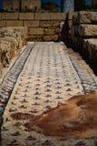 Antico bagna Cesaria di porto Israele Fotografie Stock