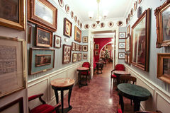 The Antico Caffè Greco in Rome Royalty Free Stock Images