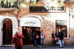 Antico Caffe Greco, the oldest bar in Rome Royalty Free Stock Photography