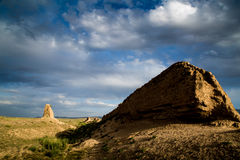 Antico la grande muraglia in Gansu, Cina Immagine Stock Libera da Diritti