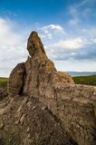 Antico la grande muraglia in Gansu, Cina Fotografie Stock