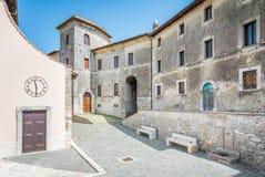 Anticoli Corrado, comune δήμος στη μητροπολιτική πόλη της Ρώμης, Λάτσιο, Ιταλία Στοκ Εικόνες