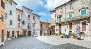 Anticoli Corrado, comune δήμος στη μητροπολιτική πόλη της Ρώμης, Λάτσιο, Ιταλία Στοκ φωτογραφία με δικαίωμα ελεύθερης χρήσης
