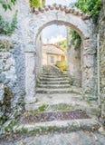 Anticoli Corrado, comune δήμος στη μητροπολιτική πόλη της Ρώμης, Λάτσιο, Ιταλία Στοκ εικόνες με δικαίωμα ελεύθερης χρήσης