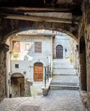 Anticoli Corrado, comune δήμος στη μητροπολιτική πόλη της Ρώμης, Λάτσιο, Ιταλία Στοκ Φωτογραφίες