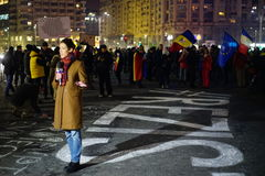 Anticoruption protest in Bucharest, Romania Royalty Free Stock Photo