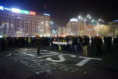 Anticoruption protest in Bucharest, Romania Stock Photo
