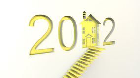 Anticrisis 2012. Growth business, optimistic a solution to the crisis in the new year Royalty Free Stock Photos