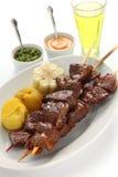 Anticuchos, περουβιανή κουζίνα Στοκ Φωτογραφίες