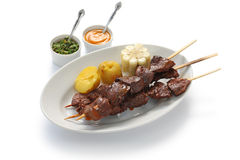 Anticuchos, Peruviaanse keuken Stock Afbeeldingen