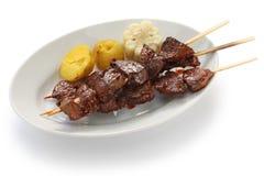 Anticuchos, Peruvian cuisine Royalty Free Stock Image