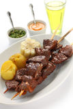 Anticuchos, Peruvian cuisine Stock Photos