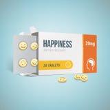 Antidepressants drug box Stock Photography