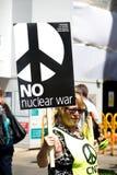 Antidonald trump rally in Centraal Londen royalty-vrije stock afbeelding