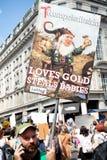 Antidonald trump rally in Centraal Londen royalty-vrije stock foto