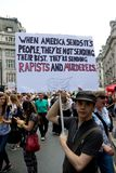 Antidonald trump rally in Centraal Londen royalty-vrije stock fotografie