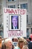 Antidonald trump rally in Centraal Londen stock afbeeldingen