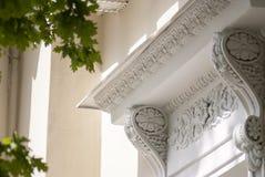 Antiek balkon, een stuk van geschiedenis stock afbeeldingen