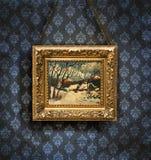 Antiek behang Stock Foto's
