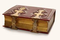 Antiek boek, met gouden greep Royalty-vrije Stock Fotografie