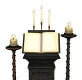 Antiek Boek met Kaarsen 2 Stock Afbeeldingen