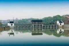 Antiek brug-Nan-Tchang Mei Lake Scenic Area Royalty-vrije Stock Afbeelding