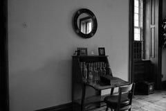 Antiek bureau in huis Royalty-vrije Stock Foto