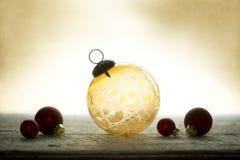 Antiek Crystal Christmas Ornament Stock Fotografie