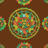 Antiek decoratief textielpatroon Royalty-vrije Stock Foto's