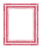 Antiek die kader op witte achtergrond, rode kleur wordt geïsoleerd Stock Foto's