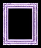 Antiek die kader op zwarte achtergrond, purpere kleur wordt geïsoleerd Royalty-vrije Stock Afbeelding