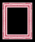 Antiek die kader op zwarte achtergrond, rode kleur wordt geïsoleerd Royalty-vrije Stock Fotografie