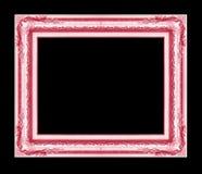 Antiek die kader op zwarte achtergrond wordt geïsoleerd Royalty-vrije Stock Fotografie