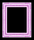 Antiek die kader op zwarte achtergrond wordt geïsoleerd Stock Fotografie