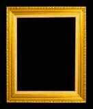 Antiek die kader op zwarte achtergrond wordt geïsoleerd Stock Foto's