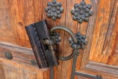 Antiek die slot van staal wordt gemaakt Stock Foto's