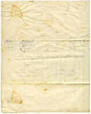 Antiek document, 1916 stock foto