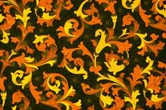 Antiek document met bloemenpatroon royalty-vrije stock afbeelding