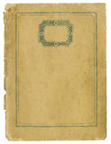 Antiek document met decoratief kader en gescheurde randen Royalty-vrije Stock Foto