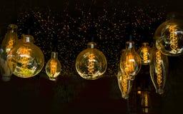 Antiek Edison Lightbulbs stock fotografie