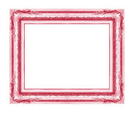 Antiek frame dat op witte achtergrond wordt geïsoleerdb Royalty-vrije Stock Foto