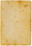 Antiek geel document dat op wit wordt geïsoleerde Stock Afbeelding
