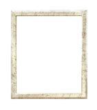 Antiek gouden die kader op witte achtergrond met het knippen van weg wordt geïsoleerd Royalty-vrije Stock Afbeeldingen