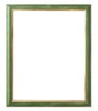 Antiek gouden die kader op witte achtergrond met het knippen van weg wordt geïsoleerd Europees art. Stock Foto
