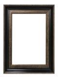 Antiek gouden die kader op witte achtergrond met het knippen van weg wordt geïsoleerd Europees art. Stock Afbeelding